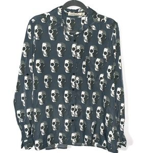 Liberty Love Skull Button Down Blouse